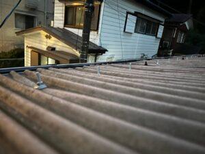 屋根作業後